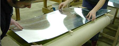 Perfect du zinc dont on fait des comptoirs with recouvrir for Recouvrir une table de zinc