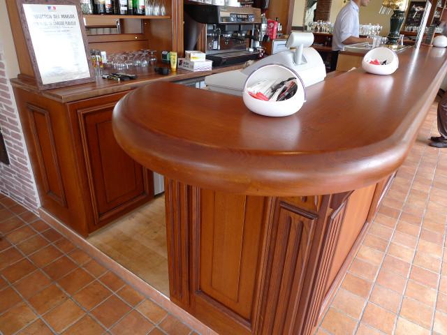comptoir bois massif comptoir bar bois massif cir miel cm plateau zinc nzbois comptoir bar. Black Bedroom Furniture Sets. Home Design Ideas
