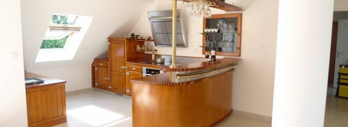 Comptoir d'une cuisine en bord de mer