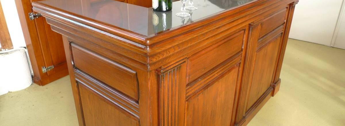 Meuble bar modèle capitole avec comptoir zinc