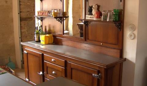 Meuble de cuisine de style arrière de bar