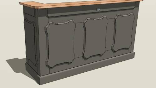 Bar en bois pour la maison
