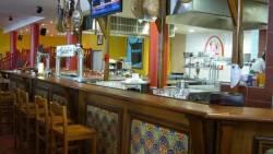 Bar de brasserie sur le thème du pays basque