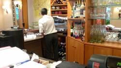 Restaurant paris xvi : l'intérieur du bar