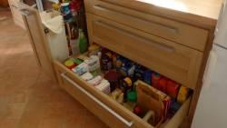 Les tiroirs de la cuisine