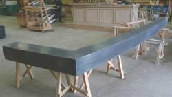 Comptoir en zinc patiné