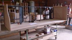 Bar en cours de fabrication