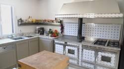 La cuisinière gaz et bois