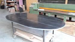 Plateau de table de cuisine en zinc