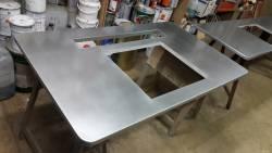 Plan de cuisine en zinc
