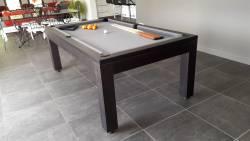 Billard table en chêne massif noir